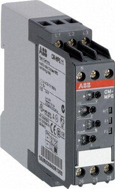Реле контроля CM-MPS.21 с контр нуля, Umin/Umax=3х180-220В/240-280BAC, обрыв, чередование, асимм-я 2 1SVR630885R3300 ABB