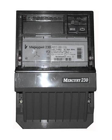 Счетчик электроэнергии Меркурий 230 ART-03CLN 5(7.5)А 3*230/400В мн.т.кл.т.0,5S/1 ЖКИ М230АRТ-03CLN Меркурий