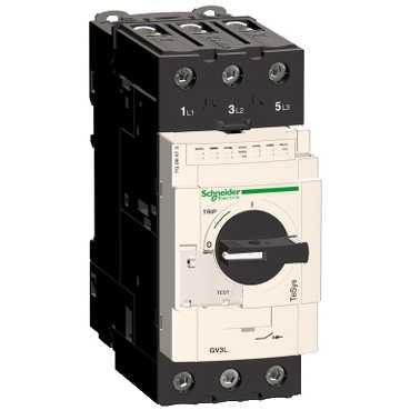 Автомат защиты двигателя c магнитным расцепителем GV3 65A GV3L65 Schneider Electric