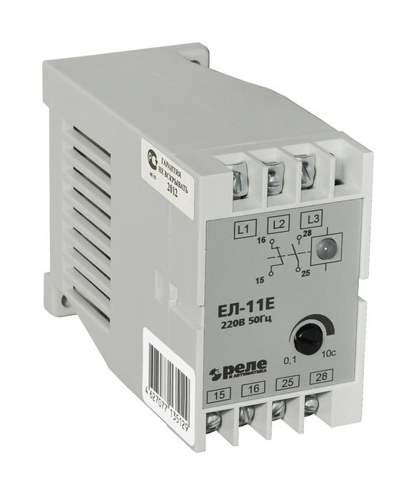 Реле контроля 3-фазной сети ЕЛ-11Е 380В 50Гц 1NO+1NC 12790 Реле и автоматика