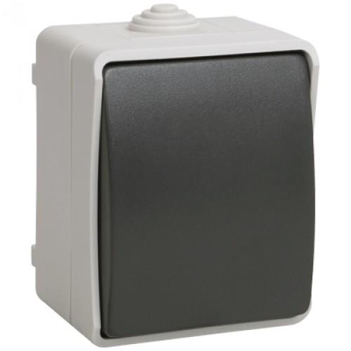 ВС20-1-0-ФСр Выключатель одноклавишный для открытой установки IP54 EVS10-K03-10-54-DC IEK