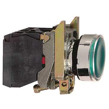 Кнопка XB4 зеленая с возвратом с подсветкой 24В AC XB4BW33B5 Schneider Electric
