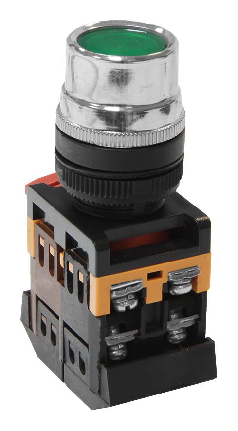 Кнопка ABLF-22 зеленая с подсветкой 220В АС MFK-ABLF-230-06 Texenergo