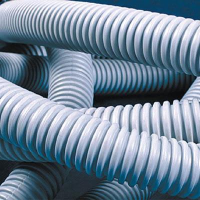 Труба ПВХ гибкая гофр. д.20мм, лёгкая с протяжкой, 100м, цвет серый 91920 DKC