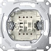 Механизм выключателя двухклавишного, схема 5 MTN3115-0000 Schneider Electric