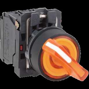 Переключатель XB5 22мм 230-240В, 2 положения, желтый с подсветкой XB5AK125M5 Schneider Electric