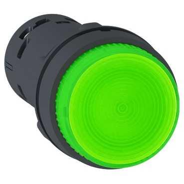 Кнопка XB7 22мм 230В зелёная с подсветкой XB7NW33M1 Schneider Electric