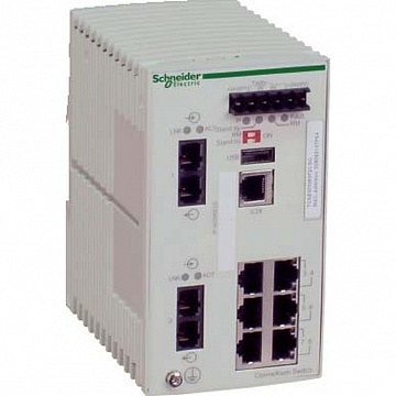 КОММУТАТОР CONNEXIUM (MANAGED) 6TX/2FX-MM TCSESM083F2CU0 Schneider Electric