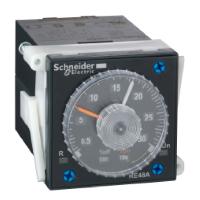 Реле времени 0.1с-100 часов, ~/=24-240В, релейный 2CO, Тип задержки L, Li. Для установки в отверстие 48х48 на переднюю панель. RE48ACV12MW Schneider Electric