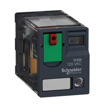 Реле промежуточное RXM, 4 C/O, 6А, 24В AC с LED, слаботочное RXM4GB2B7 Schneider Electric