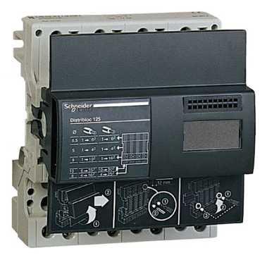 Распределительная колодка Distribloc 4 полюса 125А 04045 Schneider Electric