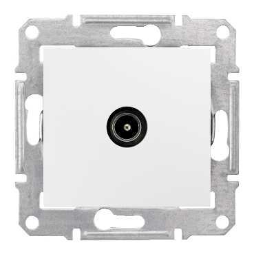 TV коннектор проходной, бел. SDN3201221 Schneider Electric