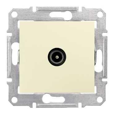TV коннектор проходной, беж. SDN3201847 Schneider Electric