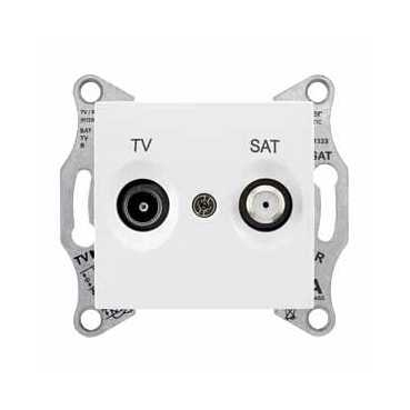 TV/SAT розетка оконечная, бел. SDN3401621 Schneider Electric