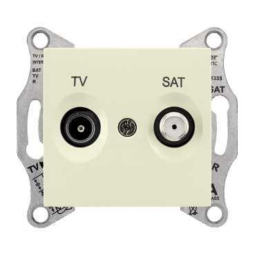 Розетка промежуточная TV/SAT Sedna, бежевая SDN3401947 Schneider Electric