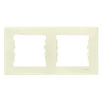 Рамка Sedna 2x, горизонтальная, бежевая SDN5800347 Schneider Electric