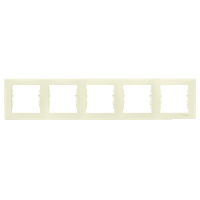 Рамка Sedna 5x, горизонтальная, бежевая SDN5800947 Schneider Electric