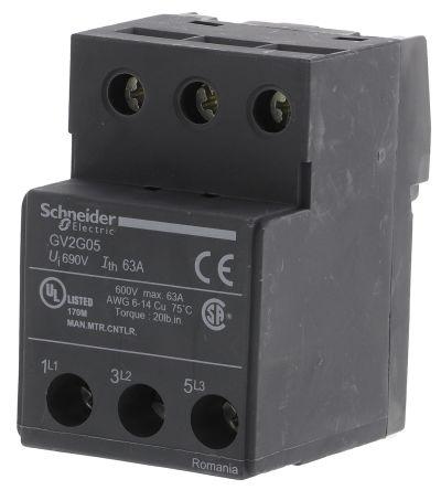 Клеммный блок для присоединения шин типа GV2G сбоку вместо одного автомата защиты GV2G05 Schneider Electric