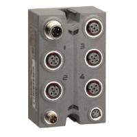 Аналоговый модуль IP 67, 2 вх/ 2 вых, 12 бит, 0-20мА, разъемы М12 TM7BAM4CLA Schneider Electric