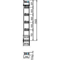 ПРЯМАЯ СЕКЦИЯ ДЛЯ ВЕРТ. РАСПРЕДЕЛЕНИЯ 2,5М 800А KSA800EV4254 Schneider Electric