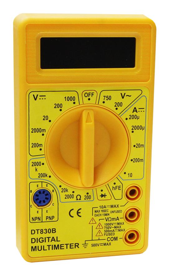 Мультиметр М830 В (DT830В) (сопр.,напряж.,пост. ток) PDT830B Mastech
