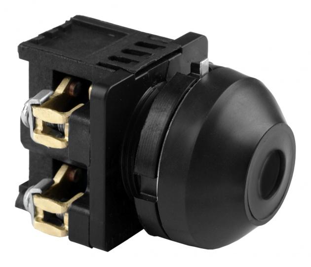Выключатель кнопочный КЕ 081/2 черный 1з+1р B0812-11B Texenergo