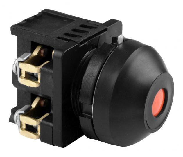 Выключатель кнопочный КЕ 081/2 красный 1з+1р B0812-11R Texenergo