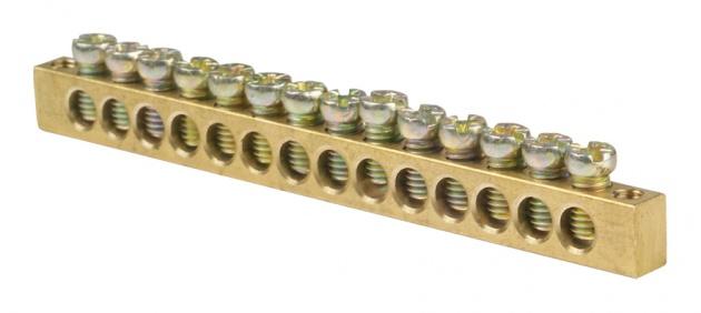 Шина нулевая 14/2 8х12 мм NN2-812-14 Texenergo