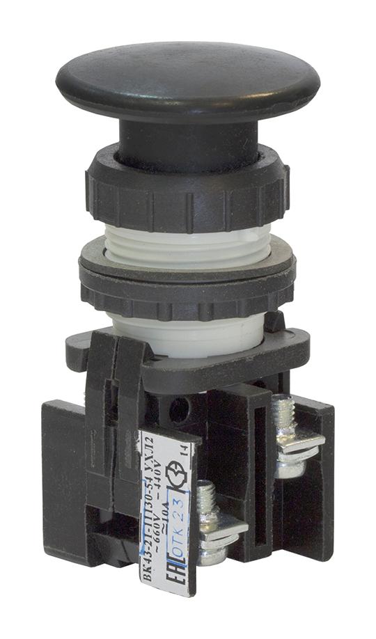 Выключатель кнопочный ВК 43-21-11130-54 УХЛ2, Черный 180111300ВЧ000000000 Кашинский Завод Электроаппаратуры