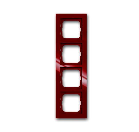 Рамка 4-постовая, серия axcent, цвет foyer-red 1754-0-4479 ABB