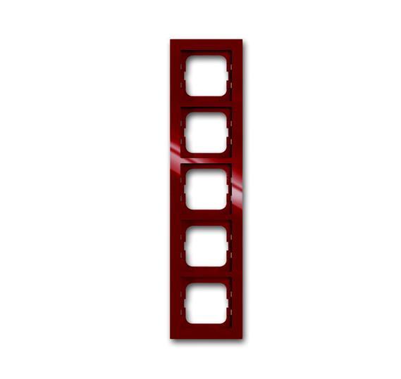 Рамка 5-постовая, серия axcent, цвет foyer-red 1754-0-4480 ABB