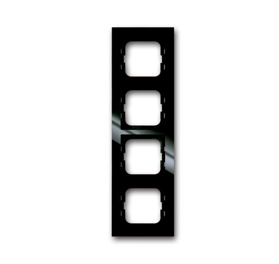 Рамка 4-постовая, серия axcent, цвет château-black 1754-0-4494 ABB