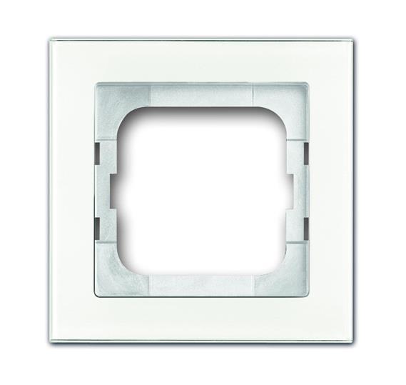 Рамка 1-постовая, серия axcent, цвет белое стекло 1754-0-4437 ABB