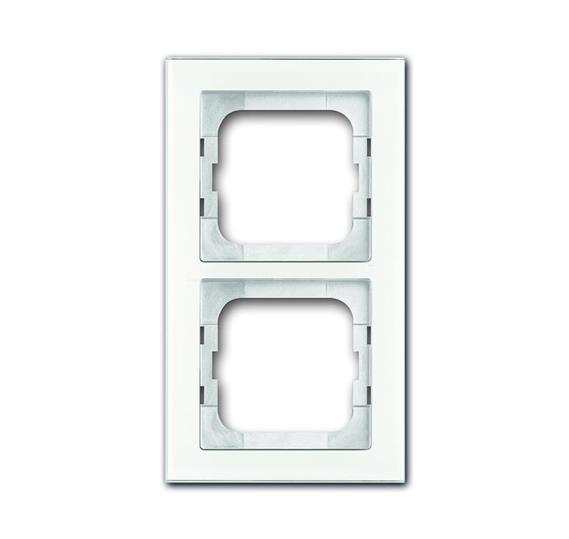 Рамка 2-постовая, серия axcent, цвет белое стекло 1754-0-4438 ABB
