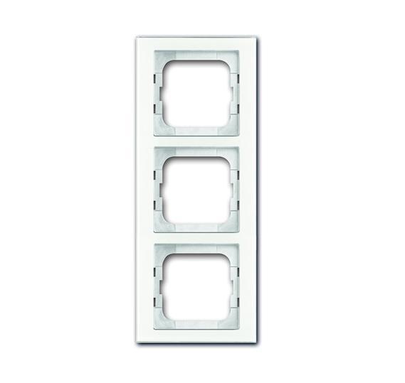 Рамка 3-постовая, серия axcent, цвет белое стекло 1754-0-4439 ABB