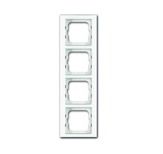 Рамка 4-постовая, серия axcent, цвет белое стекло 1754-0-4440 ABB