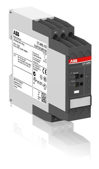 Реле времени CT-ARS.11S (задержка на откл.) 24-240B AC/DC без вспом. напряжения, 0,05с..10мин, 1ПК, 1SVR730120R3100 ABB
