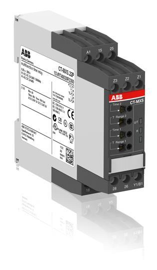 Реле времени CT-MXS.22P многофункциональное, 24-240B AC, 24- 48B DC, 0,05..300ч, 2ПК, пружинные клем 1SVR740030R3300 ABB