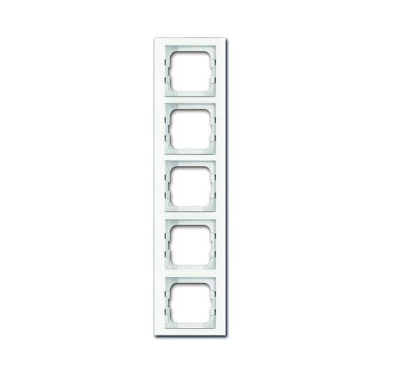 Рамка 5-постовая, серия axcent, цвет белое стекло 1754-0-4441 ABB