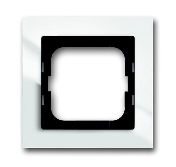 Рамка 1-постовая, для монтажа заподлицо, серия axcent, цвет белый 1753-0-4121 ABB