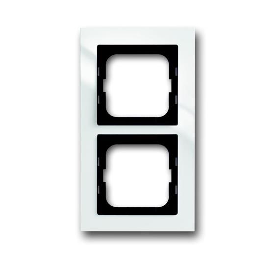 Рамка 2-постовая, для монтажа заподлицо, серия axcent, цвет белый 1753-0-4122 ABB