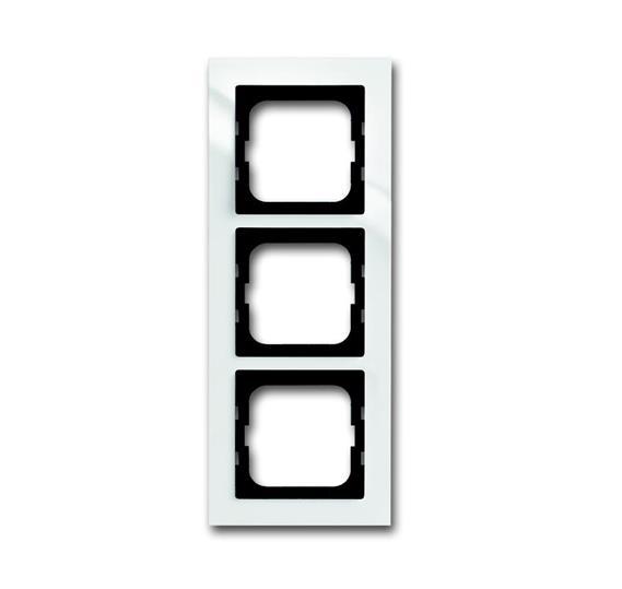 Рамка 3-постовая, для монтажа заподлицо, серия axcent, цвет белый 1753-0-4123 ABB
