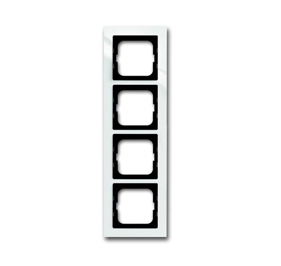 Рамка 4-постовая, для монтажа заподлицо, серия axcent, цвет белый 1753-0-4124 ABB