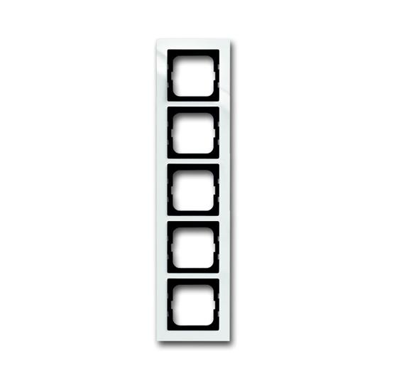 Рамка 5-постовая, для монтажа заподлицо, серия axcent, цвет белый 1753-0-4125 ABB