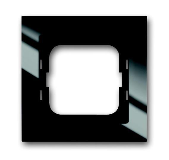 Рамка 1-постовая, для монтажа заподлицо, серия axcent, цвет черный 1753-0-4126 ABB
