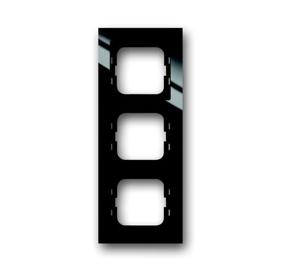 Рамка 3-постовая, для монтажа заподлицо, серия axcent, цвет черный 1753-0-4128 ABB