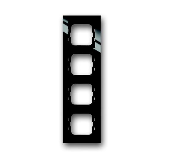 Рамка 4-постовая, для монтажа заподлицо, серия axcent, цвет черный 1753-0-4129 ABB