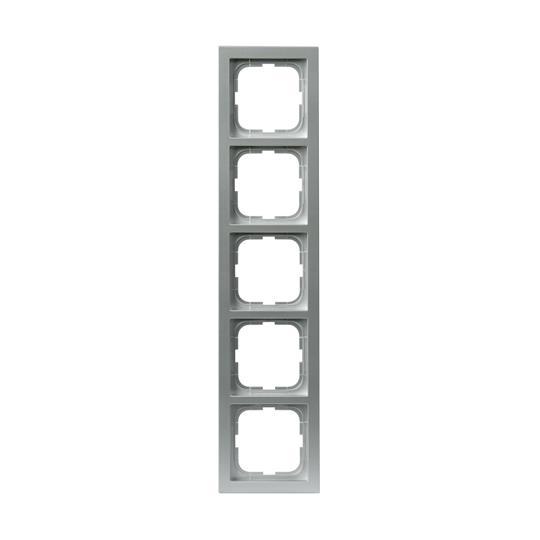 Рамка 5-постовая, серия Impressivo, алюминий 1725F85-83 ABB