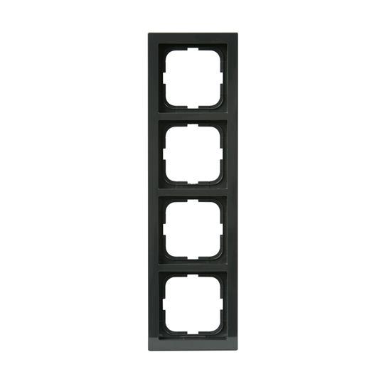 Рамка 4-постовая, серия Impressivo, антрацит 1724F85-81 ABB