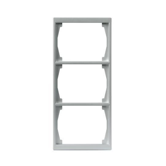 Рамка 3-постовая, 100мм серия Impressivo, алюминий 1723F100-83 ABB